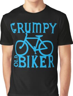 Grumpy old Biker with cycle riding bike bicycle Graphic T-Shirt