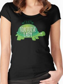 Crazy Tortoise lady Women's Fitted Scoop T-Shirt