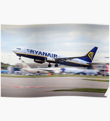Ryanair 737-800 Take-Off Poster