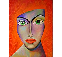 Red hear woman Photographic Print