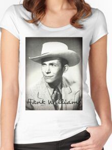 Canvas Water Color Of Hank Williams Women's Fitted Scoop T-Shirt