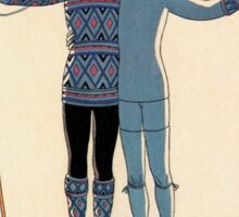 L'Hiver by George Barbier Sticker