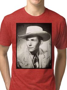Canvas Water Color Of Hank Williams Tri-blend T-Shirt