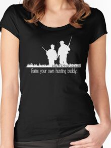 Hunting buddy - white Women's Fitted Scoop T-Shirt