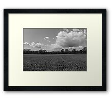 Clouds above the Field Framed Print
