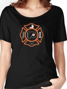 Philadelphia Fire - Flyers style Women's Relaxed Fit T-Shirt