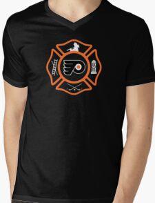 Philadelphia Fire - Flyers style Mens V-Neck T-Shirt