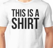 This is a Shirt(English Version) Unisex T-Shirt