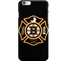 Boston Fire - Bruins style iPhone Case/Skin