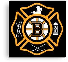 Boston Fire - Bruins style Canvas Print