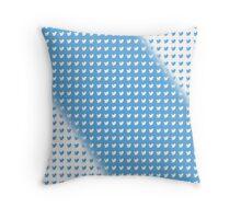 twitter logo pattern BLUE & WHITE Throw Pillow