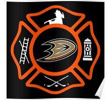 Anaheim Fire - Ducks style Poster