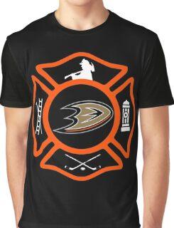 Anaheim Fire - Ducks style Graphic T-Shirt