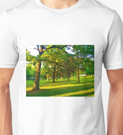 Wisconsin Green and Yellow Tree Landscape Summer Eve Unisex T-Shirt
