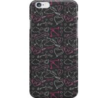 Black love iPhone Case/Skin