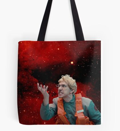 Angry Space Boy Tote Bag