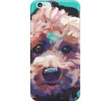 Toy Poodle Dog Bright colorful pop dog art iPhone Case/Skin