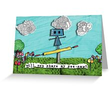 Share My See-Saw Greeting Card