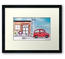 Mallow Back To School Framed Print