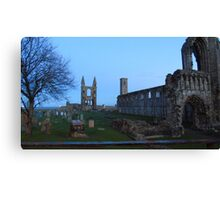 cathedral ruins st andrews taken from north st Canvas Print