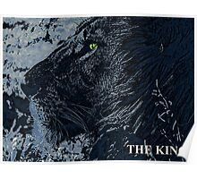 The King Blue Poster