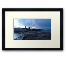 Harbour and cathedral square tower Framed Print
