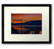 Fleischmann Pier  Framed Print