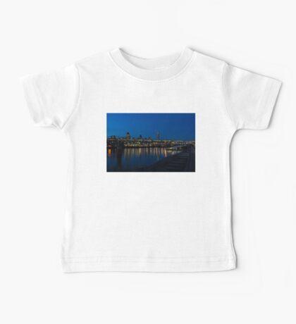British Symbols and Landmarks - Millennium Bridge and Thames River at Low Tide Baby Tee
