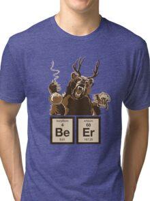 Chemistry bear discovered beer Tri-blend T-Shirt