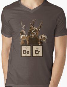 Chemistry bear discovered beer Mens V-Neck T-Shirt