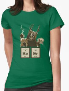 Chemistry bear discovered beer Womens Fitted T-Shirt