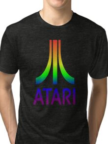 Atari Rainbow Tri-blend T-Shirt