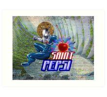 Saint Pepsi Vaporwave Ocean Paradise Art Print