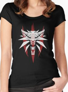 The White Wolf - The Witcher t-shirt / Phone case / Mug 3 Women's Fitted Scoop T-Shirt