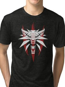 The White Wolf - The Witcher t-shirt / Phone case / Mug 3 Tri-blend T-Shirt