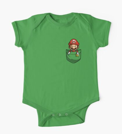 Pocket Mario  One Piece - Short Sleeve