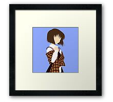 Minimalist Shiori Misaka Framed Print