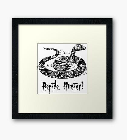 Reptile Hunter! Framed Print