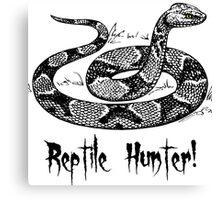 Reptile Hunter! Canvas Print
