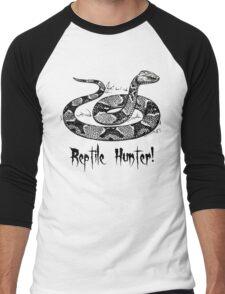 Reptile Hunter! Men's Baseball ¾ T-Shirt