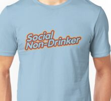 Social Non-Drinker (Design for light background) Unisex T-Shirt