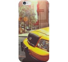 Taxi in the City iPhone Case/Skin