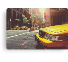 Taxi in the City Canvas Print