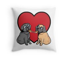 Pugs Love Pizza Too! Throw Pillow