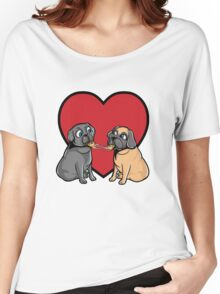 Pugs Love Pizza Too! Women's Relaxed Fit T-Shirt