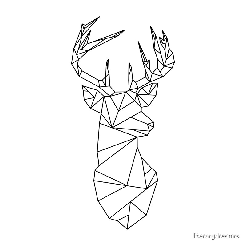geometric stag by literarydreamrs redbubble. Black Bedroom Furniture Sets. Home Design Ideas