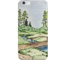 Hills landscape iPhone Case/Skin
