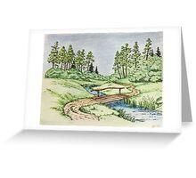Hills landscape Greeting Card