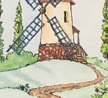 Windmill Lanscape Sticker