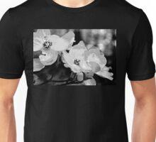 Dogwood Blossoms - Black and White Unisex T-Shirt